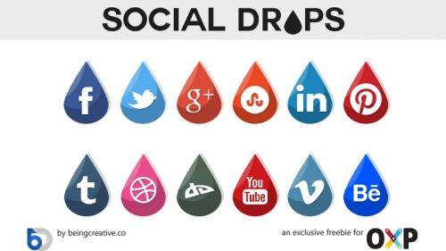 Бесплатный сувенир: Иконки социальных сетей «Капельки»