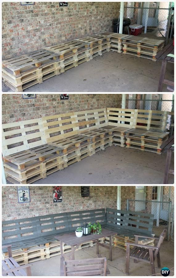 DIY Patio Pallet Furniture Set Instructions - DIY Outdoor Patio #Furniture Ideas