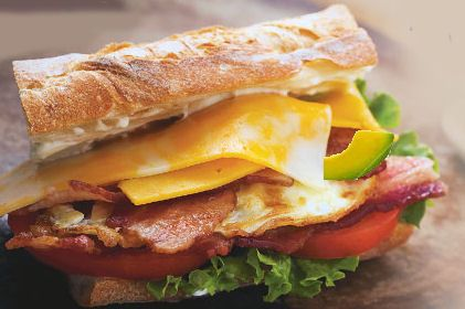 Hearty BLT with Colby Jack Cheese and Avocado.  http://thegardeningcook.com/cheesy-blt/