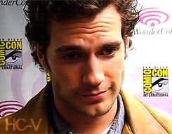 """Henry Cavill.  It's like he's saying, """"How you doin'? Come with me.""""."""