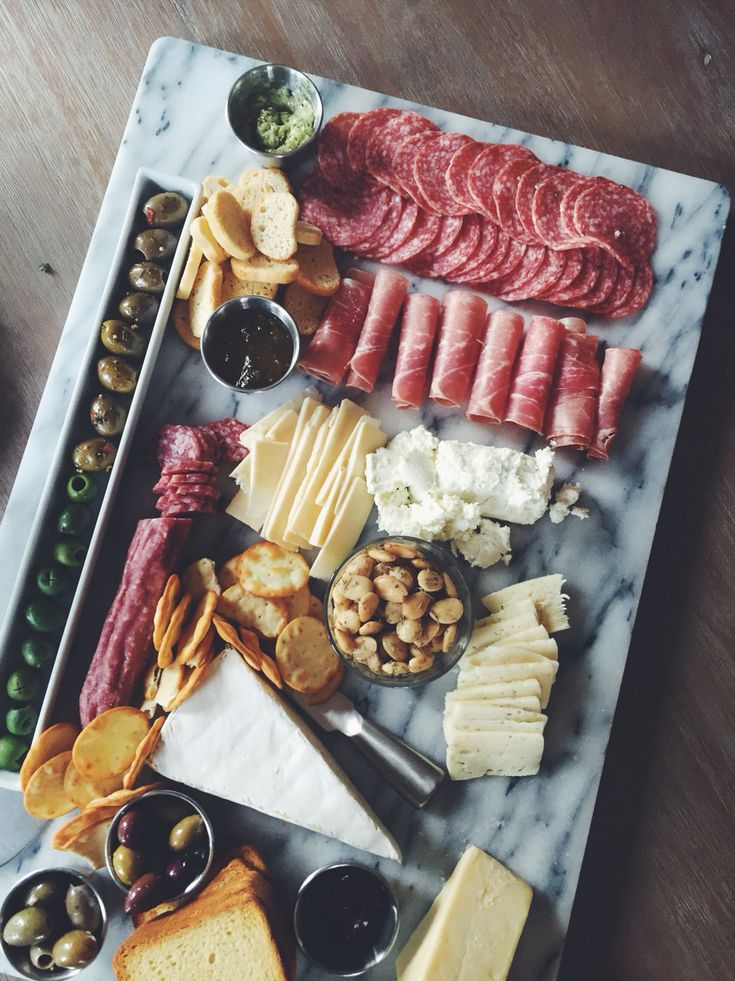 The perfect appetizer spread! Cheese & Charcuterie/grazing table                                                                                                                                                                                 More