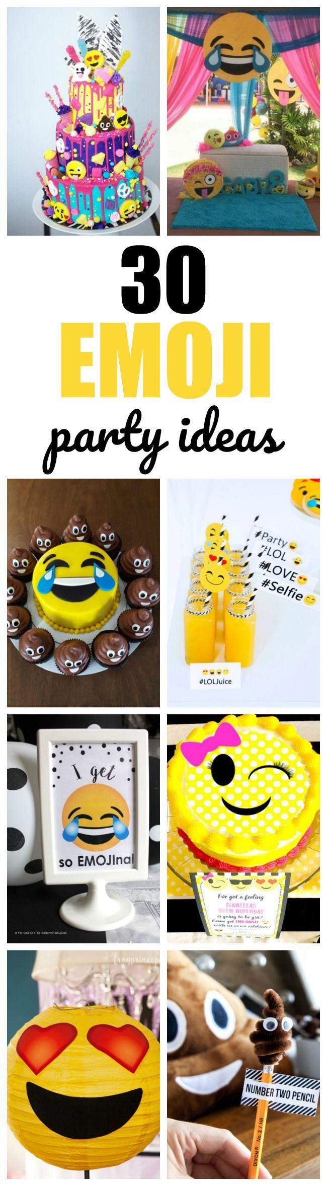 30 Totally Amazing Emoji Birthday Party Ideas | Pretty My Party