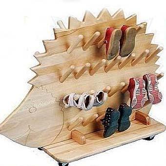 Детская обувь деревянные полки