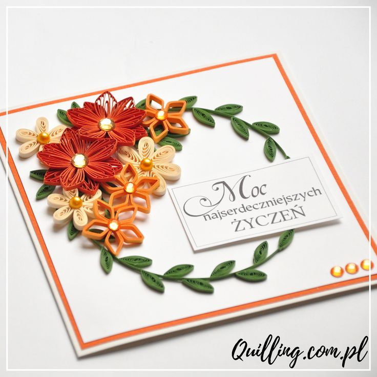 quilling, husking, handmade, greeting card, DIY, birthday, paperart, craft, kartka, quilling.com.pl
