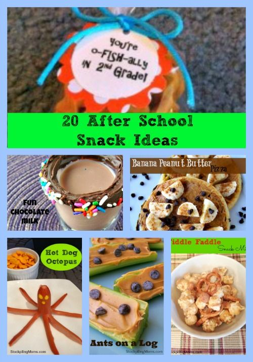 20 After School Snack Ideas that are perfect for Back To School - They are all kid approved!