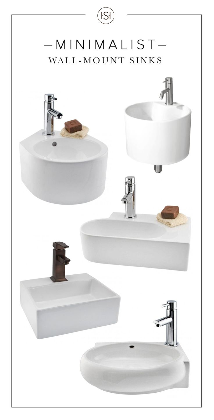 With their clean lines and modern shapes, these wall-mount sinks are the perfect match for any minimalist bathroom. Pair one with a sleek and simple single-hole faucet to complete the look.