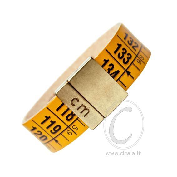 Brand: Il Centimetro. Design: centimeter bracelet - classic yellow color - in leather with magnet closure! Italian Design. €24,00 on www.cicala.it - Register for discount!