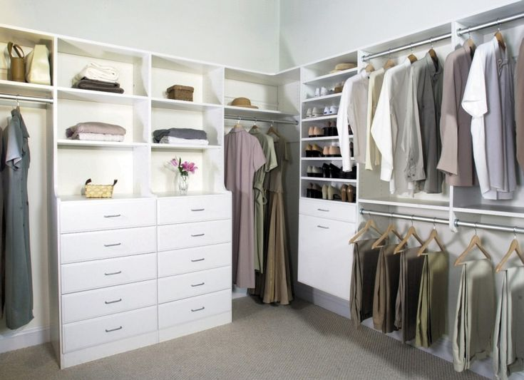 Creative Walk In Closet Ideas Design In Bedroom Interior With White Color  Decoration Made From Wooden