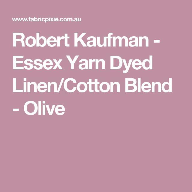 Robert Kaufman - Essex Yarn Dyed Linen/Cotton Blend - Olive