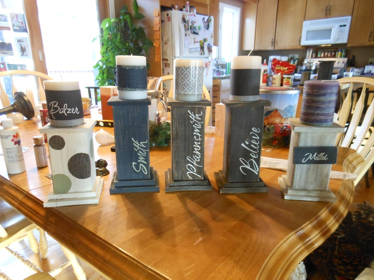 4x4 Candle Holders Projects I Have Tackled