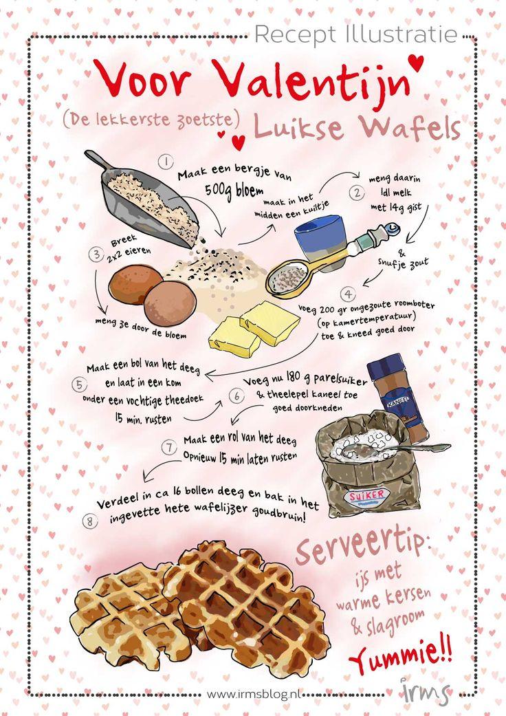 Luikse wafels speciaal voor Valentijn, lekker! Download dit recept gratis op mijn blog!