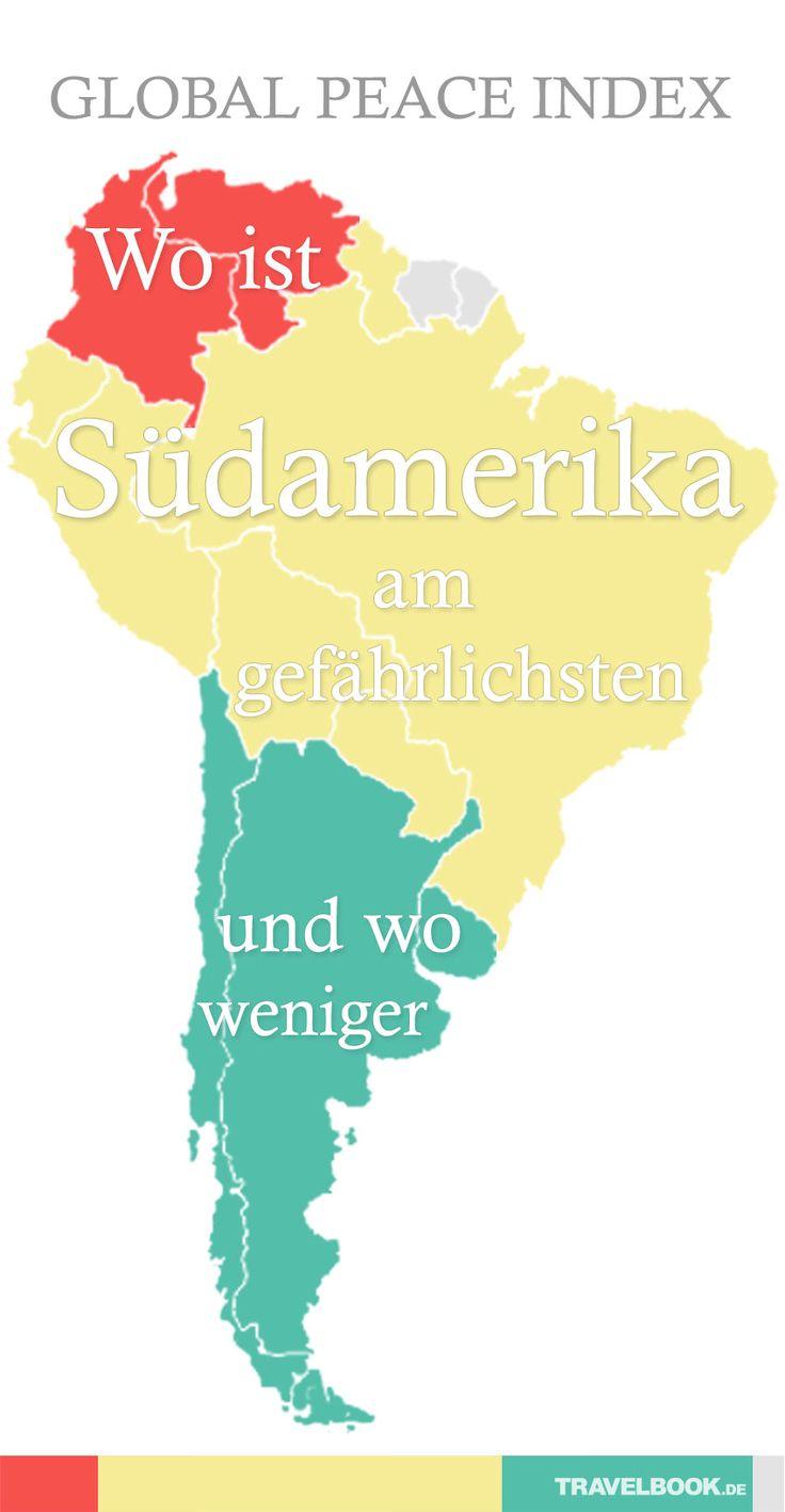 In diesen Tagen wird in einigen Ländern Südamerikas das Polizeiaufgebot deutlich höher sein als sonst. Denn Papst Franziskus besucht Ecuador, Bolivien und Paraguay. Urlauber haben einen solchen Schutz natürlich nicht – und dürften sich vor einer Reise nach Südamerika fragen, welche Länder sicher sind und welche besonders gefährlich. Der Global Peace Index gibt darüber Auskunft.