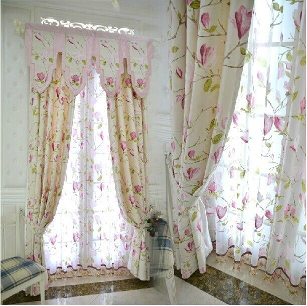 European window valance grommet curtains set good blackout curtain material patterned window shades for dinning room lush decor -in Curtains from Home & Garden on Aliexpress.com   Alibaba Group