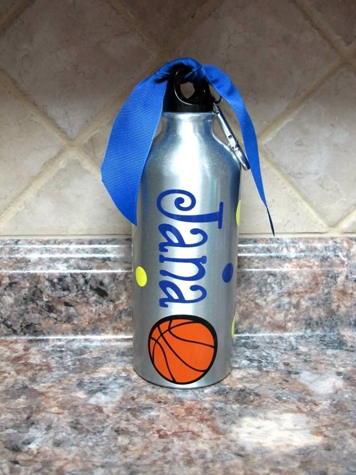 Personalized Cricut Vinyl Name On Sports Water Bottle