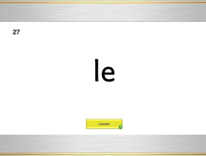 Mots fréquents du français – Lecture, série 1 – Brigitte Prof