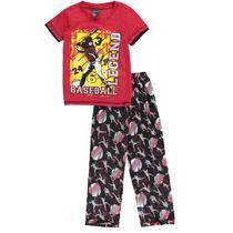 "American Hero Big Boys' ""Baseball Legend"" "" 2-Piece Pajamas (Sizes 8 - 20)"
