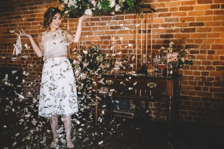 Dark Hues For An Intimate Wedding Inspiration Shoot At The Green Man Winchester With Stationery By Geri Loves Emi And Images From Carrie Lavers Photography