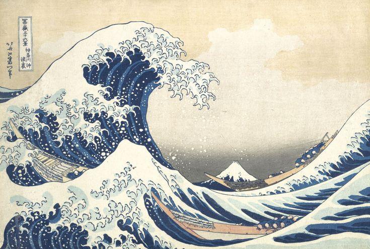 Lindsay   Drawing Japan with the Old Man Mad About Drawing   Katsushika Hokusai, Thirty-six Views of Mount Fuji: The Great Wave off Kanagawa, c. 1830