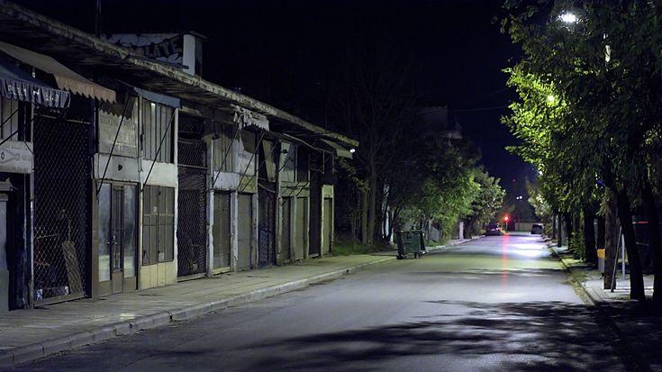 Χαράματα στην οδό Σταύρου Βουτυρά. (Νοέμβριος 2017)