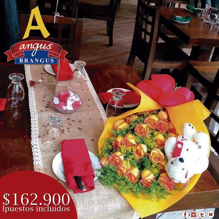 A partir de enero, podrás disfrutar nuevamente nuestra oferta especial para parejas; ideal para celebrar cumpleaños, aniversario o cena romántica.     Info. y reservas: 2321632.   Cra. 42 # 34 - 15 / KM 1 Vía las Palmas.     #Novios #Medellín #celebraciones #AngusBrangus #Parrilla #Bar #restaurantes #gastronomía #restaurantesmedellín