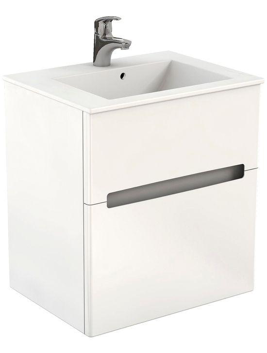 Tvättställ IDO Gloss 2 Lådor Vit