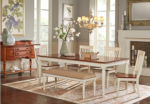 Shop For A Cindy Crawford Home Ocean Grove White 5 Pc Dining Room W WhiteChai
