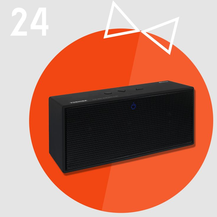 Christmas Gift Idea #24 - a TOSHIBA bluetooth speaker. Don't panic: if you still don't have a Christmas gift in mind, we have an extra special bluetooth speaker in stock that would make just about anyone happy. You can use it with any device and in any place you like: in your car, at a picnic, at a party. And it's just €59.99! We're open today, folks. 9AM - 6PM as usual for all your last-minute gift shopping!
