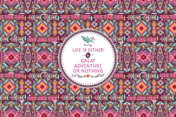 Hipster seamless aztec pattern ~ Patterns on Creative Market