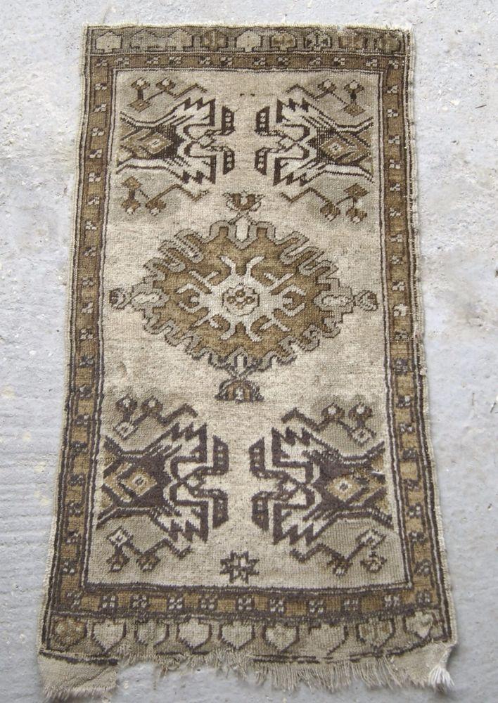 2x3 ft. Handmade Vintage Carpet, Small Turkish Rug, Oriental Carpet #RugToGo