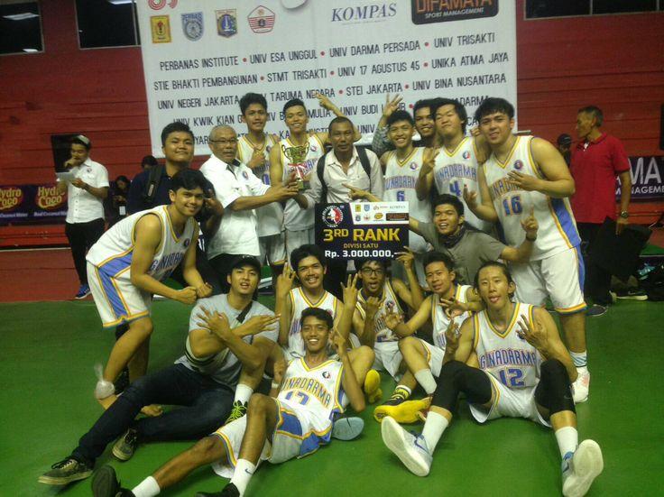 Tim Bola Basket Putera Universitas Gunadarma Meraih Juara 3 Libama DKI Jakarta dan Tim Bola Basket Putera dan Puteri Juga Meraih Juara 3 pada Gunadarma Hoop Summit 2016  | Bidang Kemahasiswaan Universitas Gunadarma