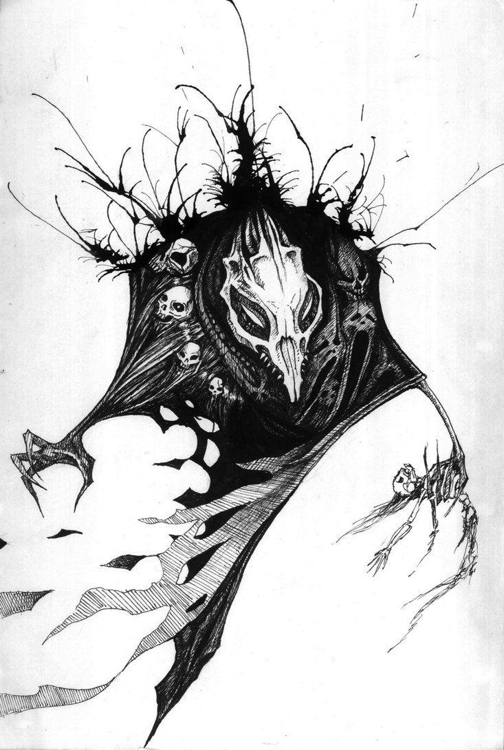 Black Death ink monster by ~Peter709