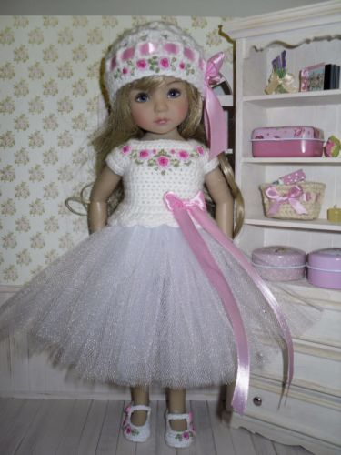 Set-for-Dianna-Effner-Little-Darling-13-inches-doll-blouse-skirt-hat-shoes