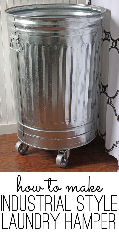 DIY industrial style laundry hamper tutorial