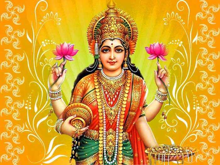 Lakshmi is the Hindu god of wealth, fortune & prosperity and also the wife of Lord Vishnu. Here is a collection of Goddess Lakshmi Images & HD wallpapers.
