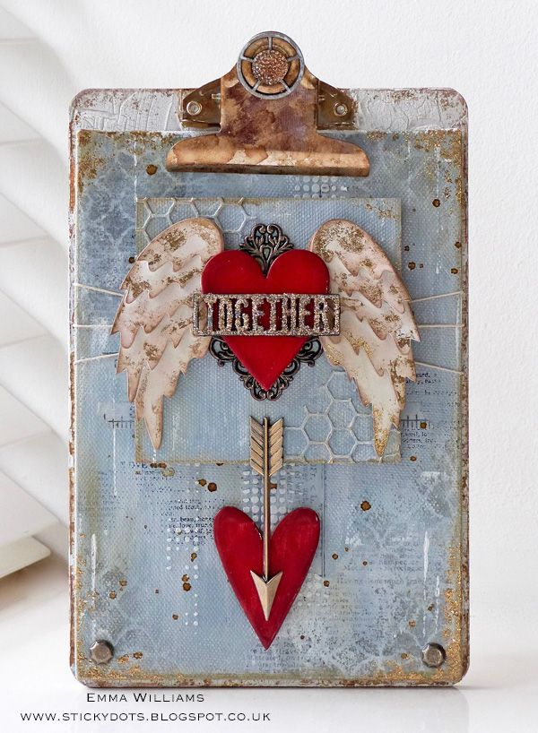 Valentine's Home Decor DIY Project featuring Tim Holtz Supplies