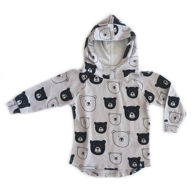 Bear Cub Drop Back Hoodie – KaPow Kids Clothing