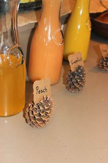 Crafts, Recipes, and Home Decor: Rustic Woodland Baby Shower. Mimosa Bar.