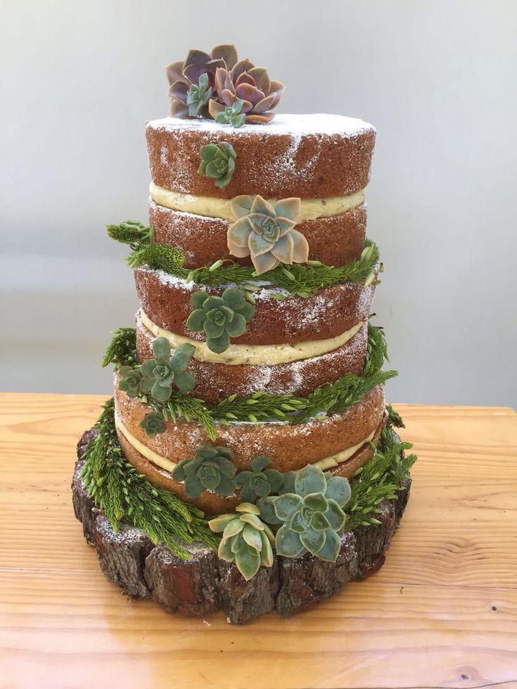 Naked cake for Rob and Gina