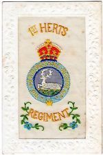 An embroided silk postcard from WW1.
