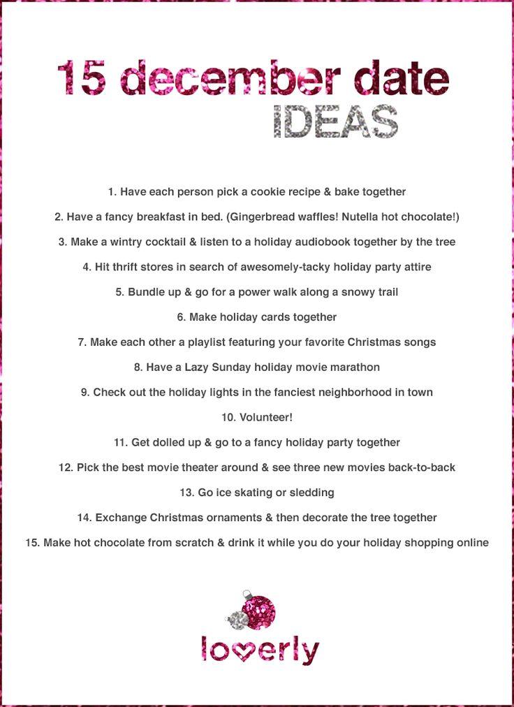 15 December Date Ideas from @Loverly Weddings Weddings ! Such cute ideas.