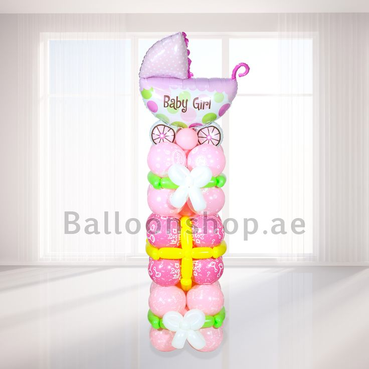 Balloonshop.ae - Baby Girl Tower,