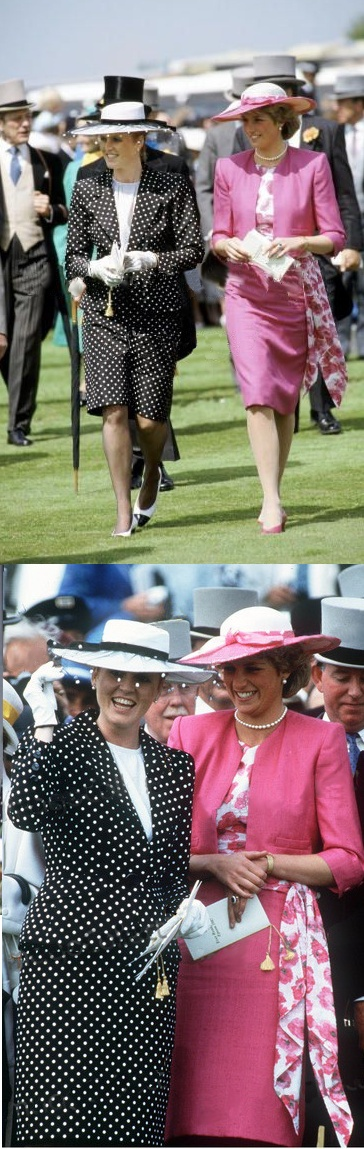 The Princess of Wales and the Duchess of York attend Royal Ascot.