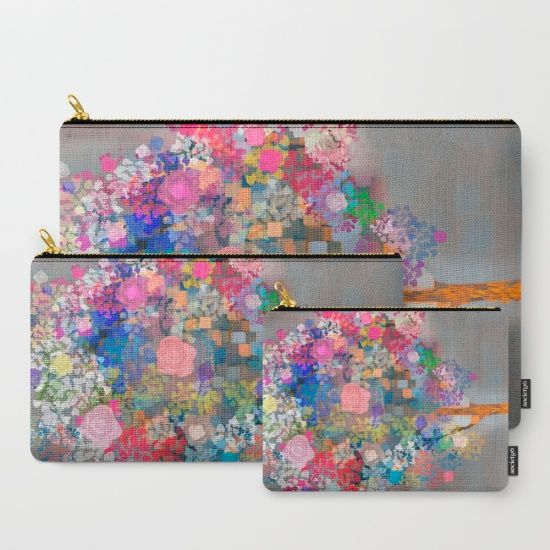 Floral abstract(56) Carry-All Pouch