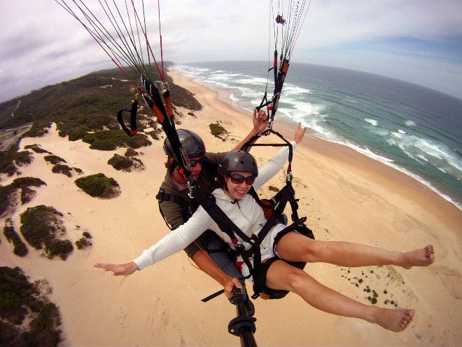 Tandem paragliding on the Garden Route