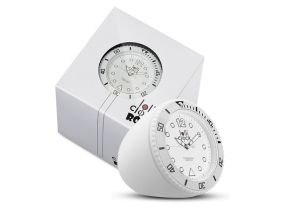 Lolliclock Rock White. The ultimate desk accessory or gift. 44mm, ABS Polycarbonite case + PC Rock backcover, 1ATM, PC21S movement. Buy online at www.lolliclock.com.au