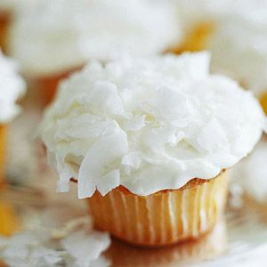 Tangerine Cupcakes with Coconut Frosting These treats are worthy of any Christmas celebration. Be sure to keep the batter chilled between batches to maintain the texture.