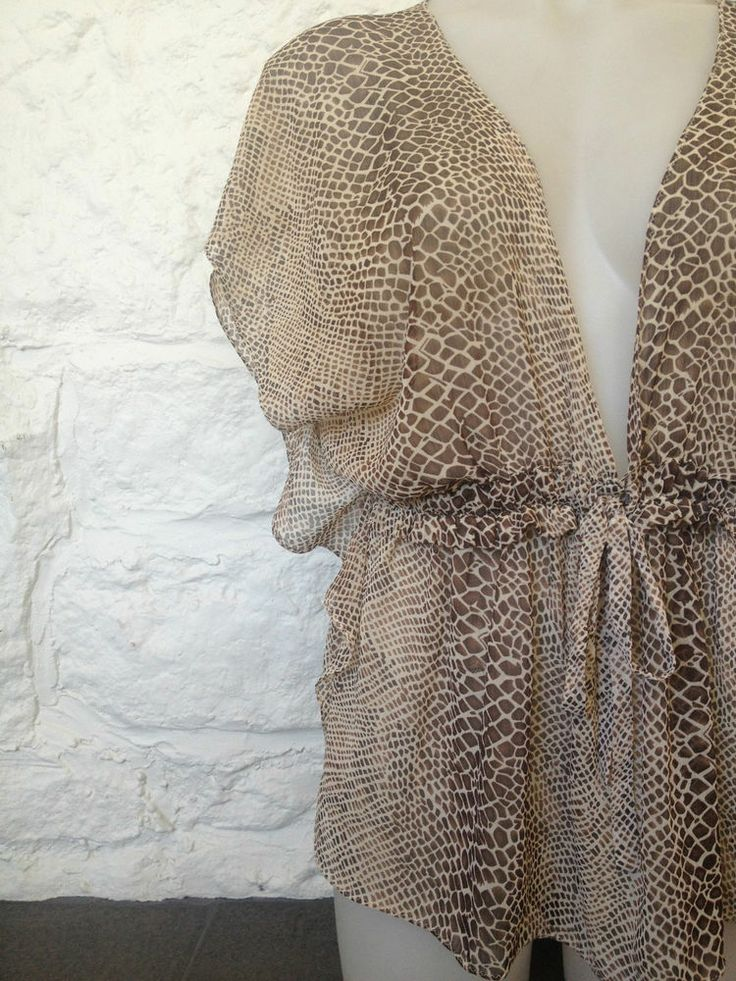Ladies Wayne Cooper Snakeskin Sheer Blouse - Size 12 - Now Selling! Click through to go to eBay auction.