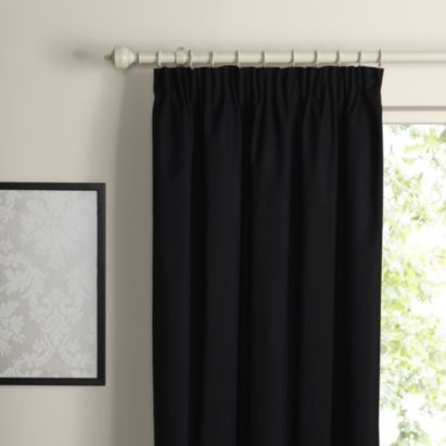 Prestige Lined Cotton Black Pencil Pleat Curtain (167x183cm), 5052931051007 from B in various sizes and shades of grey/charcoal