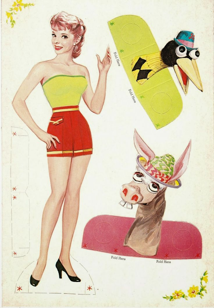 The Paper Collector: Shari Lewis Standing Dolls and Puppets, 1958-paper doll