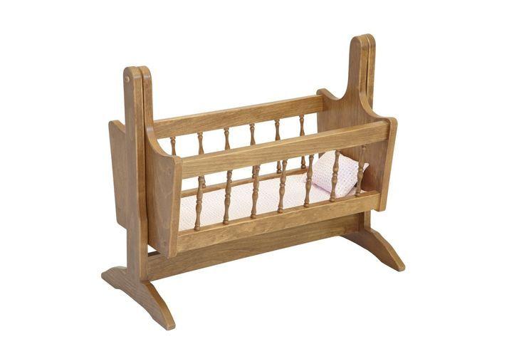 amish made wooden doll deluxe swinging cradle katies collection baby wolrd bebek mobilya besik mobilya